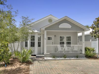 "Photo for ""COASTAL VIBES"" --Lovely Beach Cottage w/ Pool Access! Walkable distance 2 beach"
