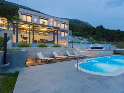 Photo for Luxury spacious villa situated on Kozjak hill overlooking dalmatian archipelago
