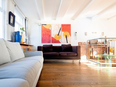 Photo for Authentic restored three bedroom house with a roof terrace, housing up to four guests in Amsterdam?s
