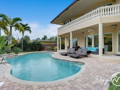 Photo for Stunning 7 BR/Close to Beach w/ Heated Pool/Game Room/Sports Lounge