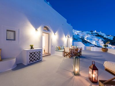Photo for VILLA LINDA, Perfect House Oia Santorini, 2 Bedrooms, 2 Bathrooms, Up to 5 Guests private terraces, with magnificent view !