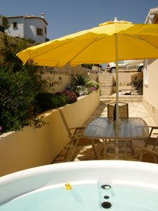 Hot tub and top terrace, 2010