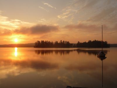 Photo for Enjoy the fabulous sunrises, listen to the loons