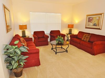 Photo for 5 Bedroom 3 Bath Pool Home in Gated Community Near Disney. 152EP
