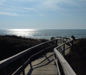 Our boardwalk to the beach- perfect for bikes too