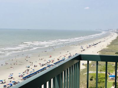 Photo for Amazing view down the coast from this 12th floor oceanfront balcony.