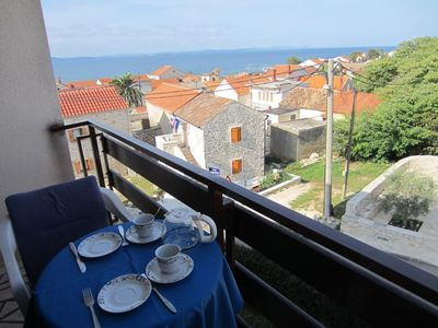 Photo for One bedroom apartment with balcony and sea view Zadar - Diklo, Zadar (A-11662-a)