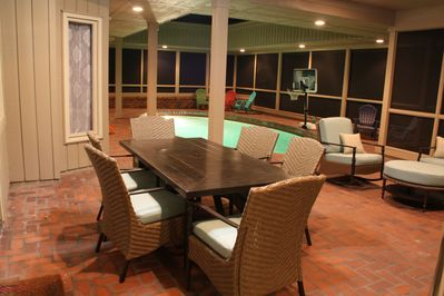 1 Bald Eagle W., screened pool area, including dining table and casual seating