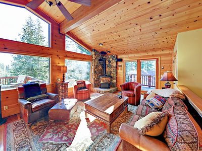 Photo for Spacious 5BR w/ Gorgeous Forested Views, Pool Table, Private Hot Tub & Deck