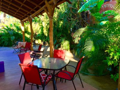 Secluded by the garden creating a wonderful sitting patio area.