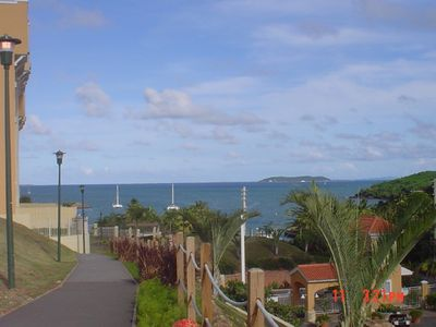 Jogging trail with ocean view