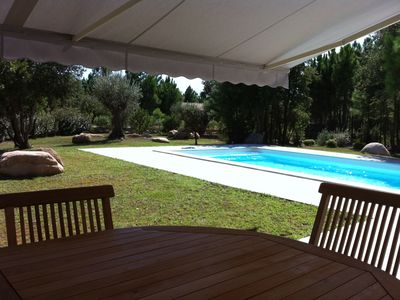 Photo for Ground floor villa with heated pool