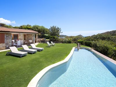 Photo for Villa Chia. Infinity private pool & garden, 500m from seaside. Great Panorama