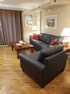 New leather living area furniture; September, 2019.