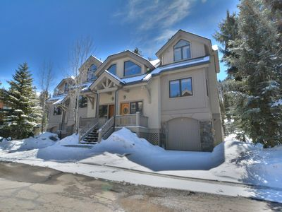 Photo for Slopeside 4BR Townhome * Private Hot Tub * Next to Lifts * 3 Stories!