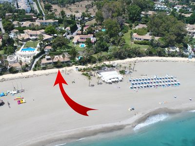 Photo for Villa Pole Position Private Pool direct access beach 2 steps Marbella Club 5BR