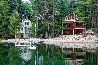 Lakemore Cottage (left) and Lodge (right)- rent together or separate.