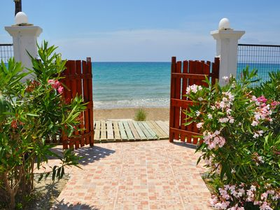 "Photo for Beachfront Vacation Home ""eftichia"""