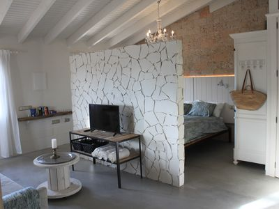 Photo for Full Loft apartment, 5 min. from the beaches, with AC, Wifi, satellite TV ..