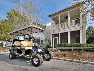 Photo for Coastal Chic 4 BR Home Just Steps to Pool + 6 Seat Golf Cart!