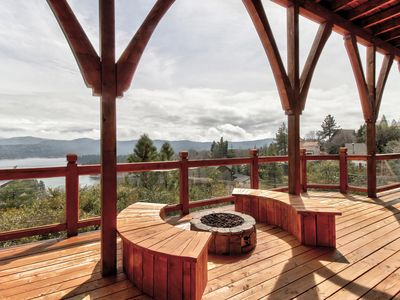 Photo for NEW LISTING! Enjoy views from this spacious getaway w/ hot tub & furnished deck