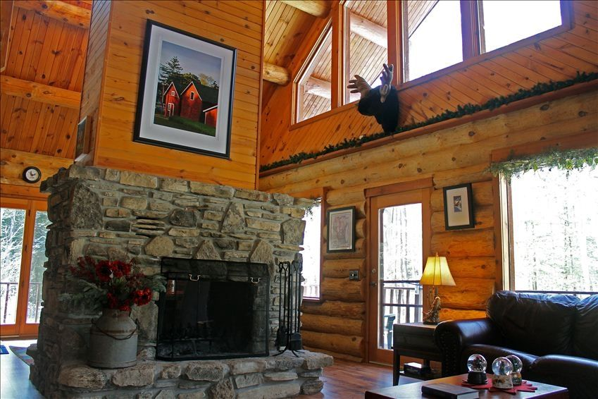Luxury Log Cabin In Egg Harbor Door County Vrbo