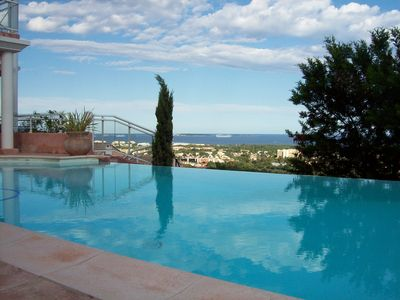 Photo for Mandelieu Villa with beautiful views over Cannes bay and Esterel WIFI and Clim