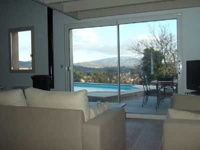 Living Room with view over Corbières hills