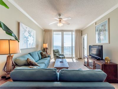 Photo for Great Two Bedroom Gulf Front Condo at the Pearl of Navarre ~ Private Balcony ~Steps to Beach!