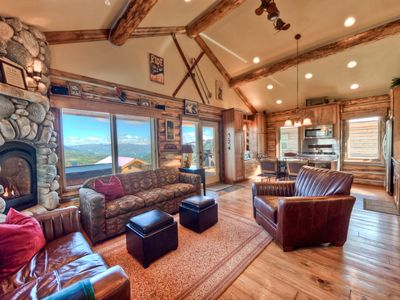 Photo for Ski-in ski-out cabin with great views of Lone Mountain, private hot tub, perfect for families