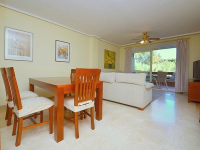 Photo for Beachfront 3 Bedrooms Apartment in peaceful greeny area with dunes