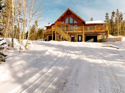 Photo for Beautiful mountain cabin w/fireplace & wrap-around porch w/amazing views!