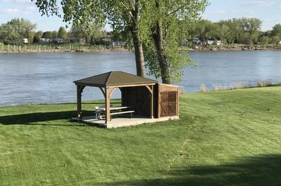 New Gazebo and boat house - structure has power. Setup your own band.