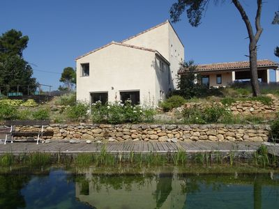 Photo for Spacious architect-designed house with natural swimming pool 15 mx 4