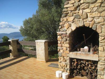 Photo for Renovated house with view of the Gulf of Valinco, and 2 bedrooms for 5 people