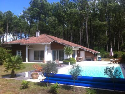Photo for Moliets: 4 * Luxury villa with private garden and swimming pool, wifi, near ocean