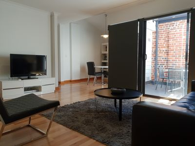 Photo for Central Fremantle warehouse converted apartment with WIFI & parking