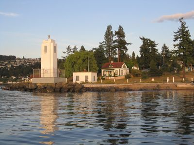 Lightstation, cottage property from Puget Sound