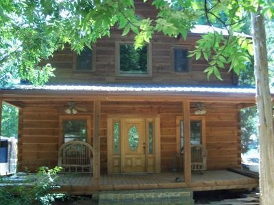 The Log Cabin Loft, in the front door and upstairs to your vacation destination.