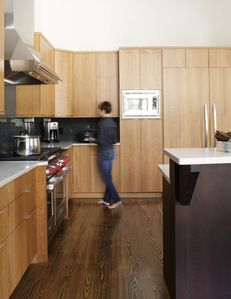Custom kitchen with high-end appliances