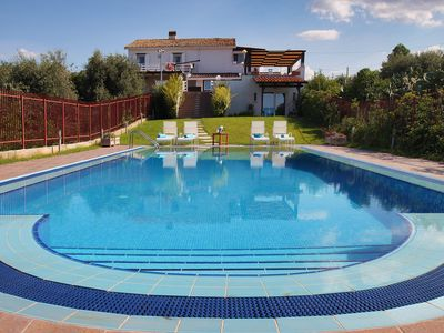 Photo for Large Luxury Villa with PRIVATE POOL, 4 bedrooms, 4 baths WiFi BBQ, near the SEA