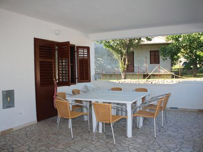Photo for Four bedroom apartment with terrace and sea view Kampor, Rab (A-5051-a)