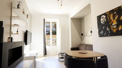 Photo for Magnificent apartment entirely renovated on the port of Nice