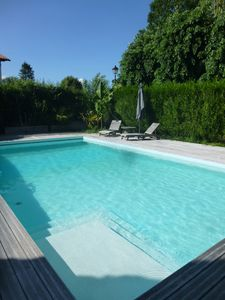 Photo for Villa 7/8 people with heated pool in Cambo les Bains in