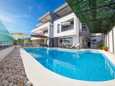 Photo for ctma128- Newly built, modern and beautiful villa in Makarska, up to 10 people, two units