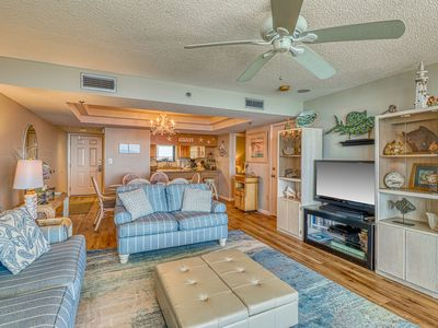 Photo for Condo on the beach w/ pool, tennis, hot tub - lots of space!