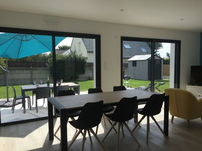 Photo for Quiet house, 300 m from a beautiful sandy beach, bay side