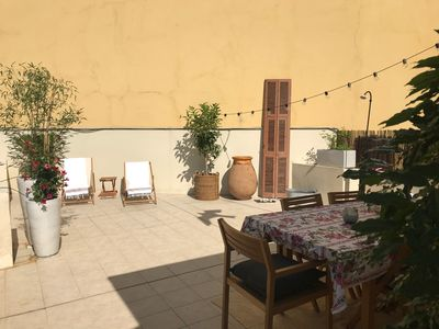 Photo for Totally renovated apartment with a 52 sqm terrace in Nice city center, Old town