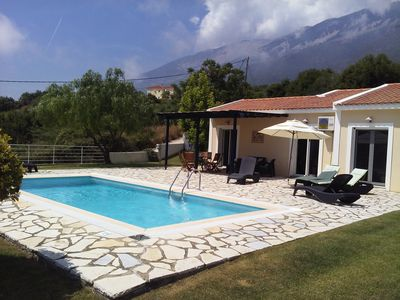 Photo for Peaceful private villa with pool. Amazing sea and mountain views. Free WiFi.