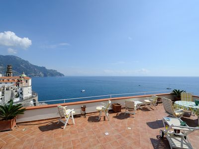 Photo for Red house with terrace and sea view and just 800m from Amalfi